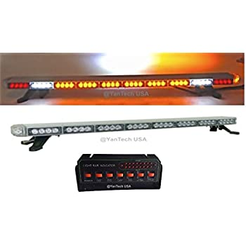 amazon com condor emergency led tir light bar 48in (blue amber50\