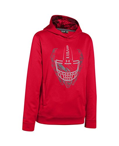 Under Armour Big Boys UA Army of 11hoodie Red/Graphite