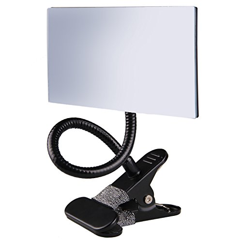 Gosear Office Clip On Cubicle Mirror, Computer Rearview Mirror, Convex Mirror for Personal Safety and Security Desk Rear View Monitors or Anywhere (Square) by Gosear