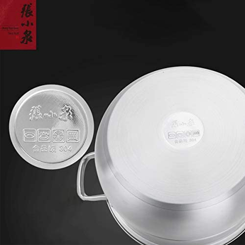 41rDhLceRoL. AC Zhang Xiao Quan Food Steamer Stainless Steel 3 Tier Steamer Pot with Handles on Both Sides, Boiler Pot with Tempered Glass Lid, Work with Gas, Electric, Grill Stove Top,28CM    Product Description