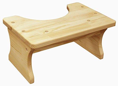 Pine Wood Toilet Step Stool Squatty Full Squat Seat Woode...