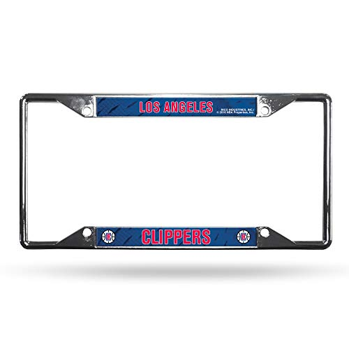 Rico Industries NBA Los Angeles Clippers Easy View Chrome License Plate - Rico Los Angeles Clippers
