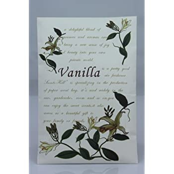 Feel Fragrance Scented Sachet for Drawer and Closet, lot of 4 (Vanilla)