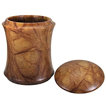 Memorial Gallery ALJ-181-MA Alabaster Stone Elegant Cremation Pet Urn