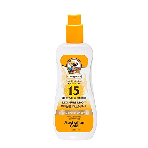 Price comparison product image Australian Gold SPF 15 Spray Gel Sunscreen, Clear, 8 Fl Oz