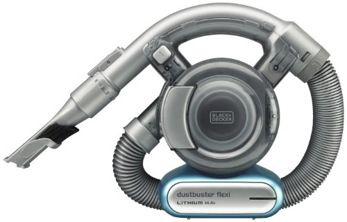Black+Decker 14.4V 1.5Ah Li-Ion Flexi Auto Dustbuster Handheld Cordless Vacuum with Pet Tool for Home & Car, Blue/Grey - PD1420LP-GB, 2 Years Warranty