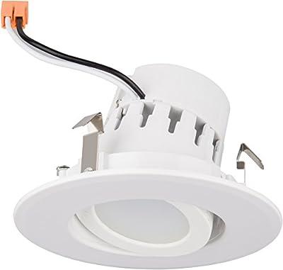 "4"" Inch LED Adjustable Rotating Downlight 10W= (75w Equivalent) 750 Lumens; 120V; CRI>90; E26 Base; Damp Location; 5 Year Warranty UL/ Energy Star"