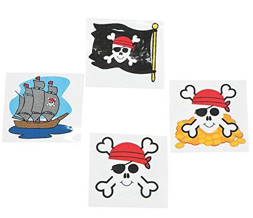 Fun Express Pirate Tattoos Piece