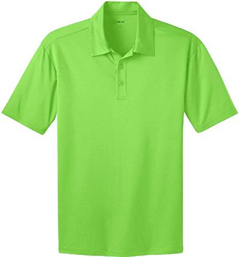 29112b25338 Joe s USA Men s Tall Short Sleeve Moisture Wicking Polo Shirt-Lime-4XLT