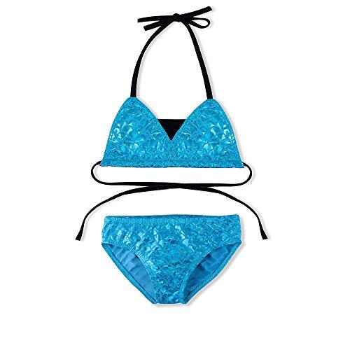 2 Pcs Shiny Little Girls Mermaid Swimwear Bikini Set