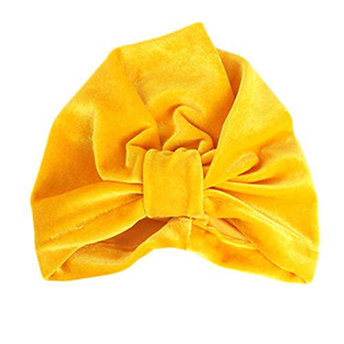 JustMyDress Baby Beanies Turban Cap Indian Hat Bandana Hat for Kids JB66 (09-Yellow) - Beanie 09