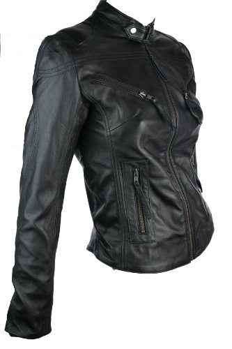 Aviatrix 100% Ladies Women Real Leather Jacket Fitted Biker Style ...