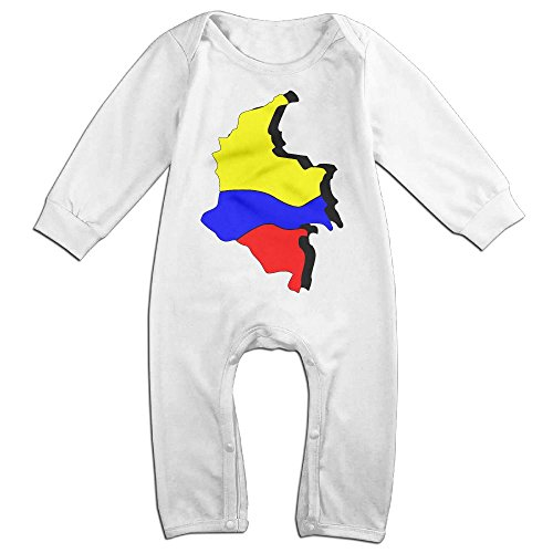 Baby Infant Romper Colombia Map Long Sleeve Jumpsuit Costume White 12 (Kimono Costume Party City)