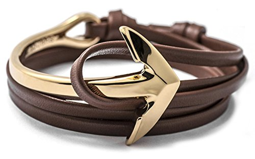Golastartery Alloy Anchor Bracelet Leather