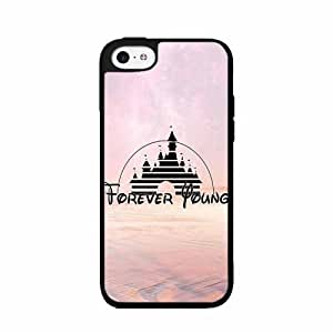 linJUN FENGCastle Inspired Forever Young - 2-Piece Dual Layer High Impact Phone Case Back Cover (iPhone 5/5s)