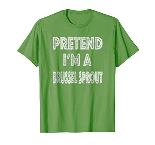 Retro Pretend I'm a Brussel Sprout Halloween Costume T-Shirt]()