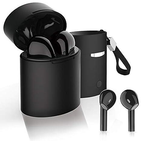 DOJA Barcelona | Cascos Inalambricos Bluetooth 5.0 X7s Negro | Auriculares de máxima Potencia y Calidad de Sonido | BATERIA 3H | Carga portatil | Compatible ...