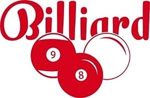 Wandtattoo für Jugendzimmer Sticker Sport Fitness Billiard mit Kugeln Sport...