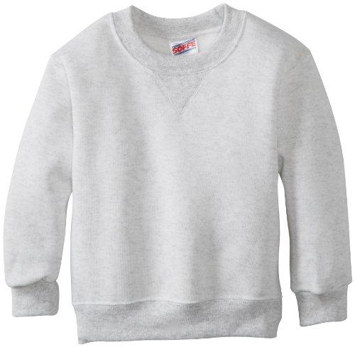 Soffe Little Boys' Crew Sweatshirt, Ash, Small