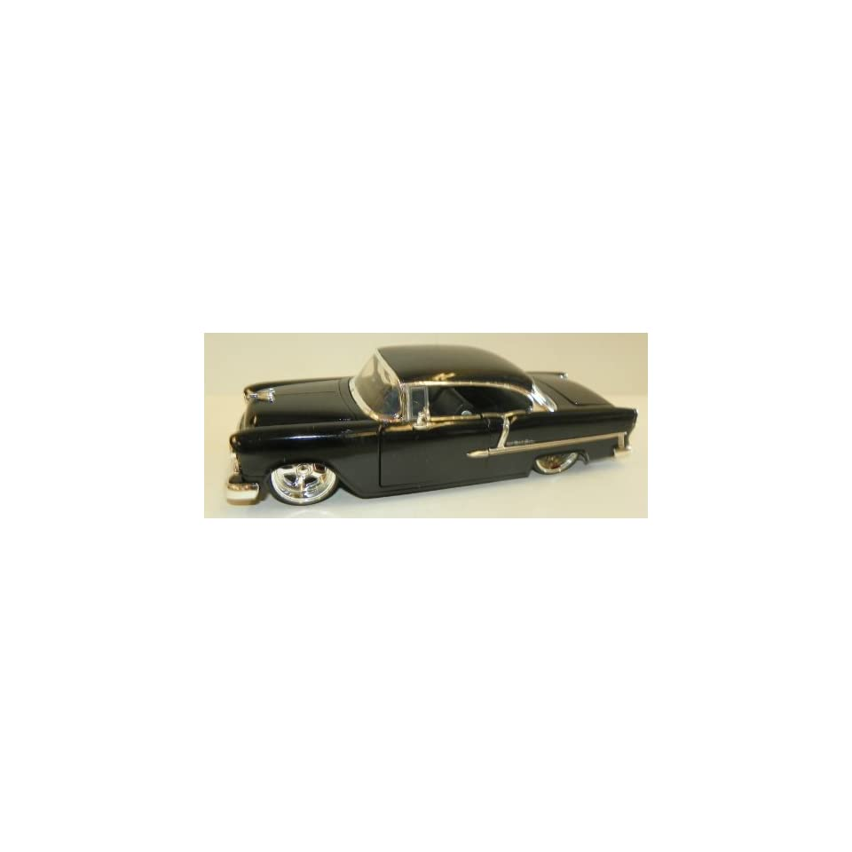 Jada Toys 1/24 Scale Diecast Big Time Kustoms 1955 Chevy Bel Air in Color Black