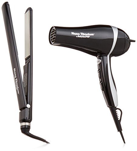 ultra-thin straightener - 41rDknnsrtL - BaBylissPRO Nano Titanium 1″ Ultra-Thin Straightener & 2000W Ionic Dryer