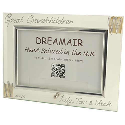 Personalised Great Grandchildren Frame (L) Coff/Silv Maximum Characters 25