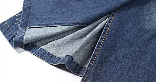 Denim Blau Mujer Cómodo Casuales Vaqueras Moda Talla Doble Bolsillos De Mujeres Hipster Larga Grande Manga Con Jeans Chaquetas Primavera Otoño Jacket Vintage Outerwear Elegantes Abrigo gwSX8xgqr