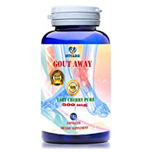 GOUT AWAY - THE BEST GOUT RELIEF SUPPLEMENT - REDUCE ACID URIC NATURALLY in GOUT TREATMENT, GOUT CLEAR - 100% FROM NATURAL PLANTS PURE EXTRACT -180 GOUT PILLS for 180 DAY SUPPLY