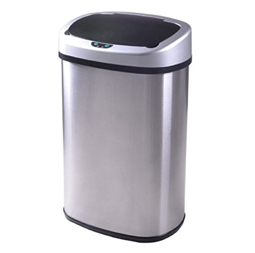 [Tash Can 13 Gallon Kitchen Automatic Sensor Stainless Stell] (Recycle Bin Costume)
