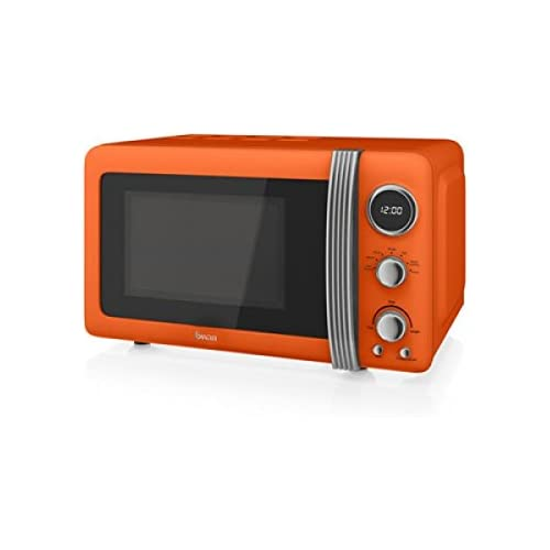Swan Retro Orange Digital Microwave
