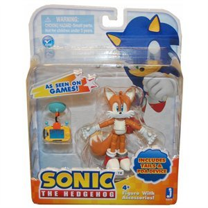 Zoofy International Sonic 3 Action Figure with Accessories Set Tails & PDA Device