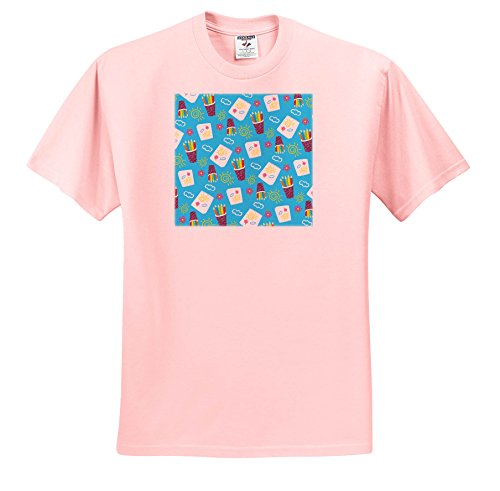 Anne Marie Baugh - Patterns - Cups Of Color Pencils and artist Notepads Pattern - T-Shirts - Toddler Light-Pink-T-Shirt (4T) (TS_274119_49)