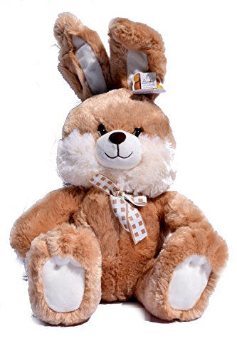 Bunny Brown Easter (Brown Fluffy Easter Bunny Rabbit Plush with Animated Ears, Lights, and Musical Song Peter Cottontail)