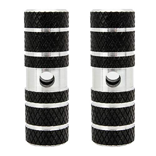 Pedal Axle - Senzeal 2 PCS Bike Pedals Axle Foot Rest Pegs Anti-Slip Rear Feet Pedals for BMX Mountain Bike Bicycle Cycling Black