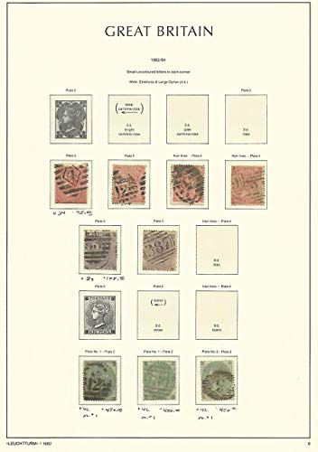Great Britain Stamp Collection on Lighthouse Page 1862-64, 34, 39, 42 SCV $1860