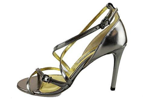 MANAS sandali donna 37 EU argento pelle lucida AH921