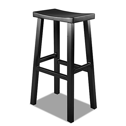 Renovoo Aluminum Saddle Seat Stool, Matte Black finish, 30 inches Seat Height, 1 Pack. Bar Stool Welded