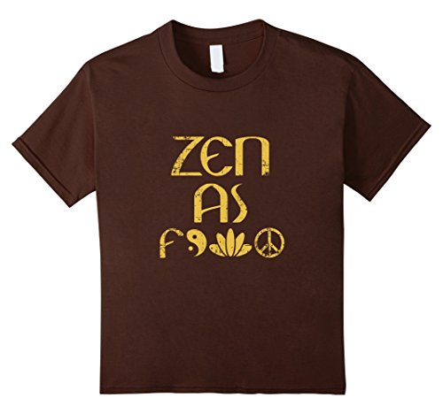 Kids Zen Meditation Lovers T-Shirt For Men Or Woman Buddha Tee 12 Brown Buddha Fitted T-shirt
