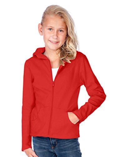 Kavio! Big Girls 7-16 Long Sleeve Zip Hoodie Red L