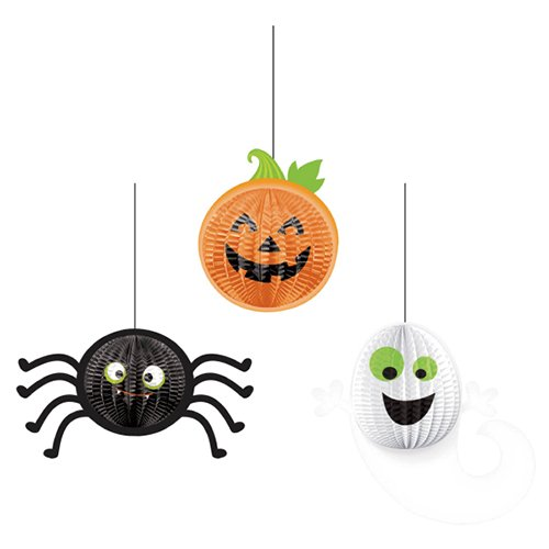 Amscan Halloween Gruesome Group | 3-D Honeycomb Hanging Decoration