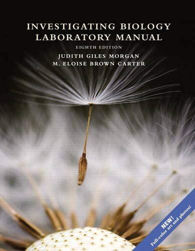 Investigating Biology Laboratory Manual (8th Edition)