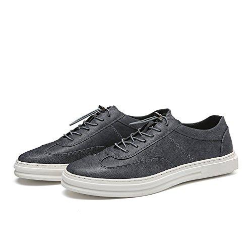 WZG Los nuevos zapatos blancos, zapatos zapatos de moda de los hombres, zapatos casuales Bullock Grey