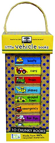 green start book towers: little vehicle books (10 Chunky Books Made from 98% Recycled Materials) (Green Start Books) (Collection Tower Mini)