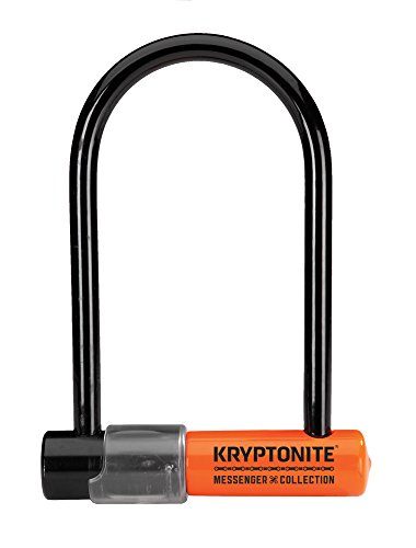 Kryptonite Messenger Mini Heavy Duty Bicycle U Lock Bike Lock, 3.75 x 6.5-Inch