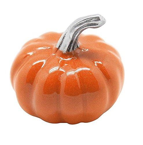 Mariposa 1284 Orange Pumpkin Napkin Weight, One Size, Silver