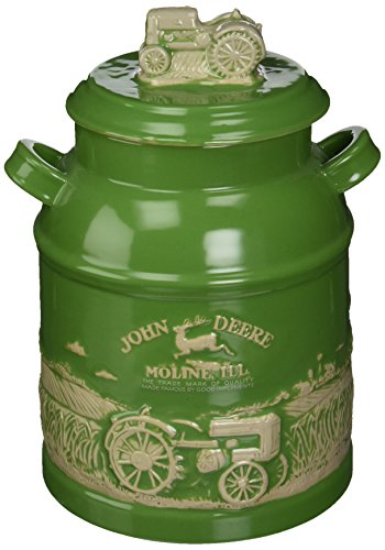 John Deere Kitchen Accessories - M. CORNELL IMPORTERS 6934 John Deere Milk Can Cookie Jar
