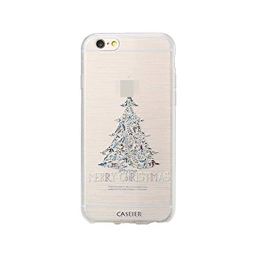 Christmas Style Case for iPhone 6 6s 7 8 Plus Silicone 3D Cases for iPhone X 10 5 5s SE Cover Soft Conque Shell,Snow Christmas Tree,for iPhone 8]()