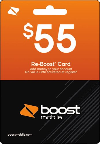 Boost Mobile $55.00 Reboost Refill Prepaid Card (Boost Mobile Minutes)