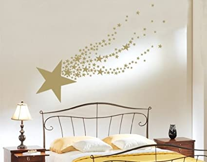 Amazon.com: Shooting Star Wall Decal by Style & Apply - Wall Sticker ...