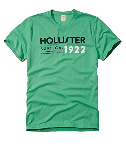hollister-mens-graphic-logo-tee-t-shirt-x-large-green-hollister